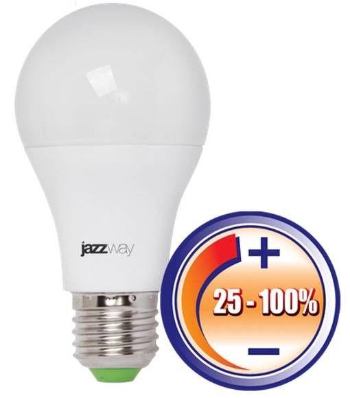 Светодиодная лампа Jazzway ЛОН A60 E27 12W(1060lm) 3000K 2K 120x60 матов. диммир. PLED-DIM .2855879