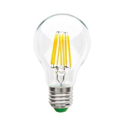 Светодиодная лампа Ecola ЛОН A60 E27 10W 2700K 2K 360° 105x60 филамент (нитевидная), прозр. Premium N7LW10ELC