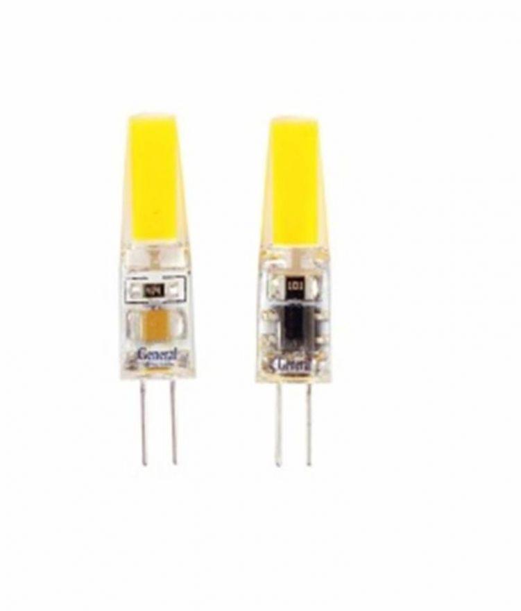 Светодиодная лампа General G4 220V 3W(250lm) 4500K 4K 37,5x10 силикон BL5 (цена за 1шт.) 651900