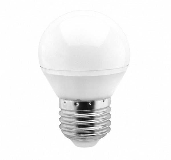 Светодиодная лампа Smartbuy шар G45 E27 7W(600lm) 4000K 4K матовая пластик SBL-G45-07-40K-E27