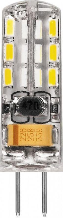 Светодиодная лампа Feron G4 12V 2W(140lm 270°) 2700K 2K прозрачная 36x10, LB-420 25858