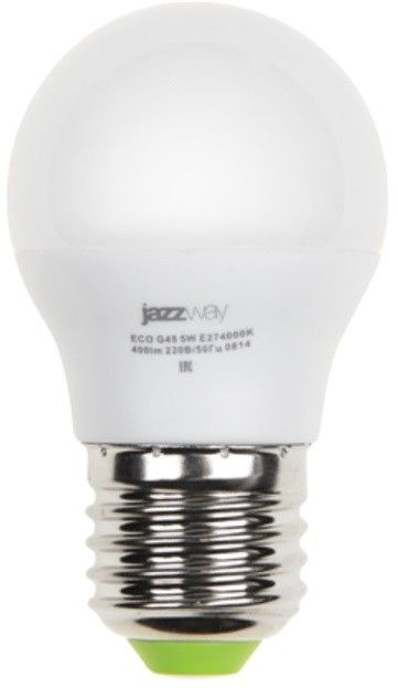 Светодиодная лампа Jazzway Шар G45 E27 9W(820lm) 5000K 4K 45x74 PLED-SP .2859662A