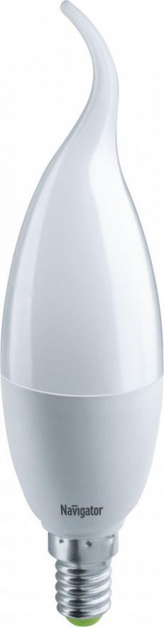 Светодиодная лампа Navigator Свеча на ветру FC37 Е14 8,5W(730Lm)6500 6Кмат.38х146мм NLL-FC37-8.5-230-6.5K-E14 61332