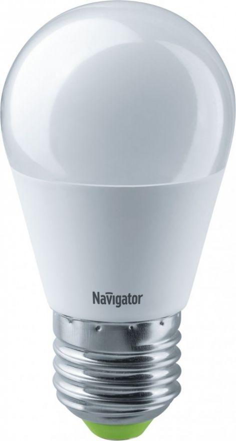 Светодиодная лампа Navigator Шар G45 E27 8,5W(730Lm) 6500 6K мат. 47х88 NLL-G45-8.5-230-6.5K-E27 61338