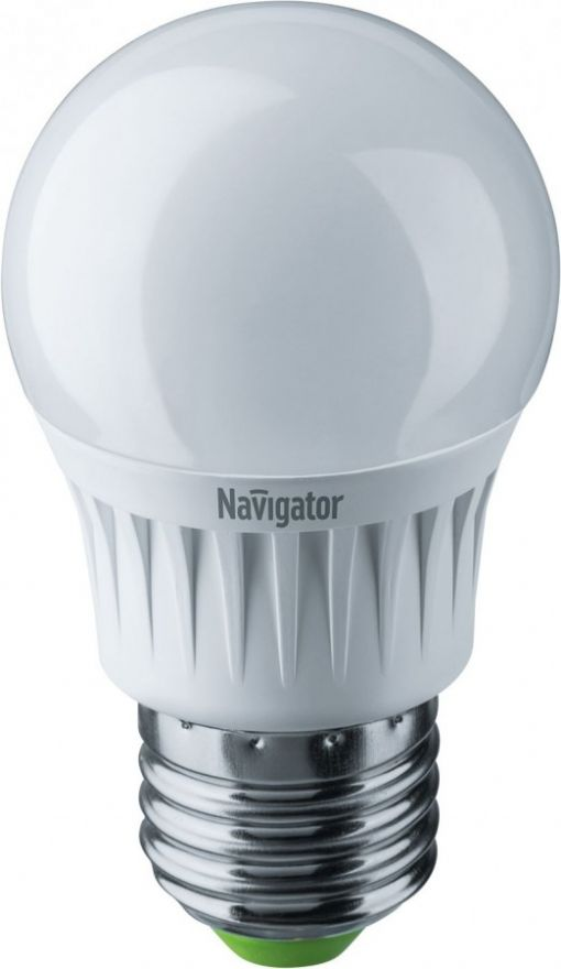 Светодиодная лампа Navigator Шар G45 димм. E27 5W(350lm) 2700 2K матов. 85x45 керам. NLL-G45-5-230-2.7K-E27 (10!) 94377