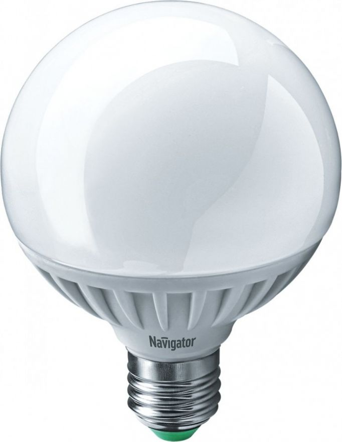 Светодиодная лампа Navigator Шар G95 E27 12W(1100Lm) 4000 4K мат. 95*125 NLL-G95-12-230-4K-E27 (10!) 61279