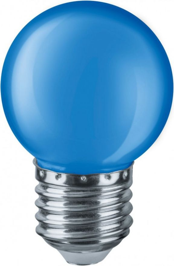 Светодиодная лампа Navigator Шар синий G45 E27 1W 45x69 мат. NLL-G45-1-230-B-E27 (10!) 71829