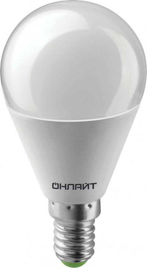 Светодиодная лампа ОНЛАЙТ лампа св/д шар G45 E14 10W(750lm)4000K4K88х46 OLL-G45-10-230 4K-E14 61966