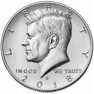 """50 центов США 2018 год """"Портрет Джона Кеннеди"""""""
