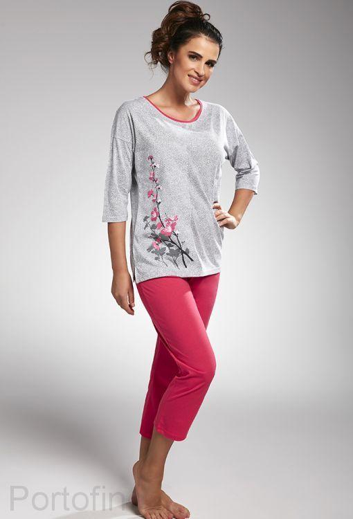 157-190 женская пижама длин.рукав Cornette