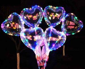 """Светящийся шарик с гирляндой """"Сердце"""""""