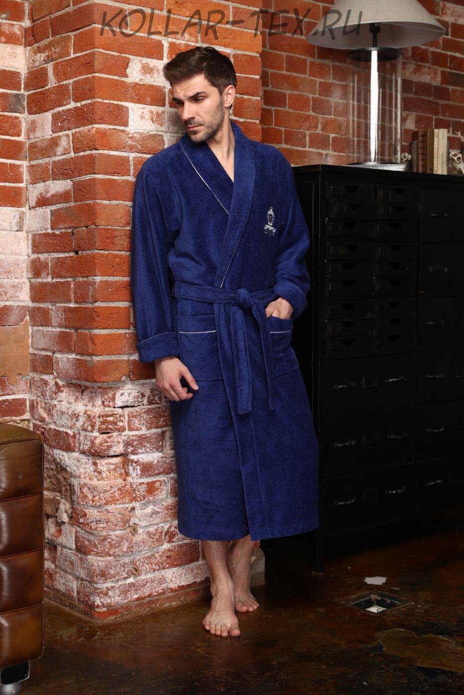 Классический мужской халат Vittore джинс , Five Wien