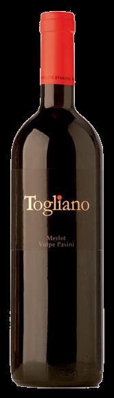 Togliano Merlot Volpe Pasini, 0.75 л., 2013 г.