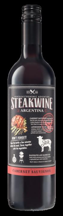 Steakwine Black Label Cabernet Sauvignon (Mendoza), 0.75 л., 2018 г.