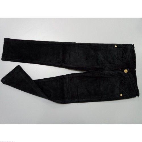 Брюки вельветовые черные 5102