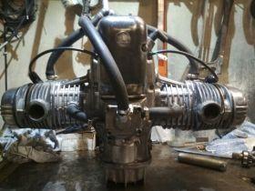 Двигатель урал с водяным охлаждением.