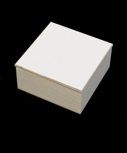 Шкатулка со съемной крышкой, квадрат 12*12 см