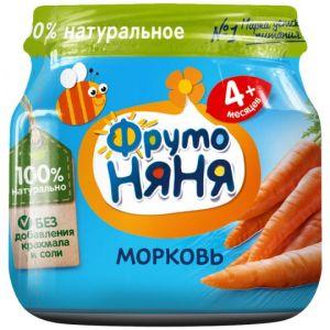 Пюре ФрутоНяня из моркови для детей с 4 месяцев, 80г