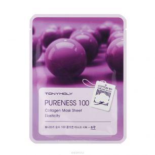 Pureness 100 Collagen Mask Sheet, Тканевая маска с экстрактом коллагена, 21 мл