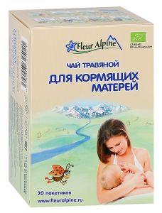 Чай Fleur Alpine травяной для кормящих матерей, 20*1,5г