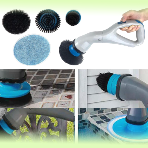 Беспроводная щётка для уборки с 3-мя насадками Hurricane Muscle Scrubber