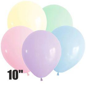 """Макаронс (10""""/25 см), Ассорти Пастель, 100 шт"""