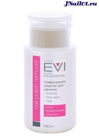 EVI professional, Универсальное средство для удаления биогеля, геля и гель-лака с помпой-дозатором, 150 мл
