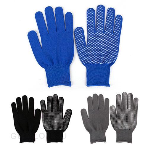 Нейлоновые перчатки с ПВХ точками, 12 пар