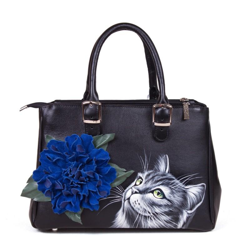 Средняя сумка Цветок и котик >Артикул: AA080155
