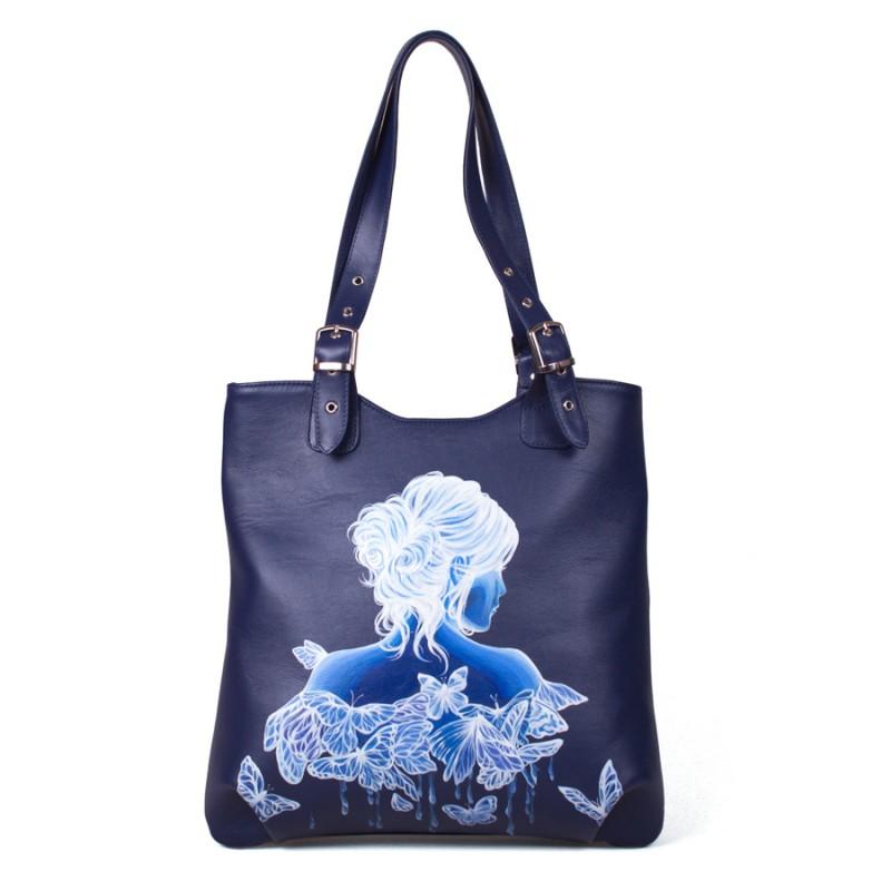 Средняя сумка Девушка с бабочками >Артикул: AA340141
