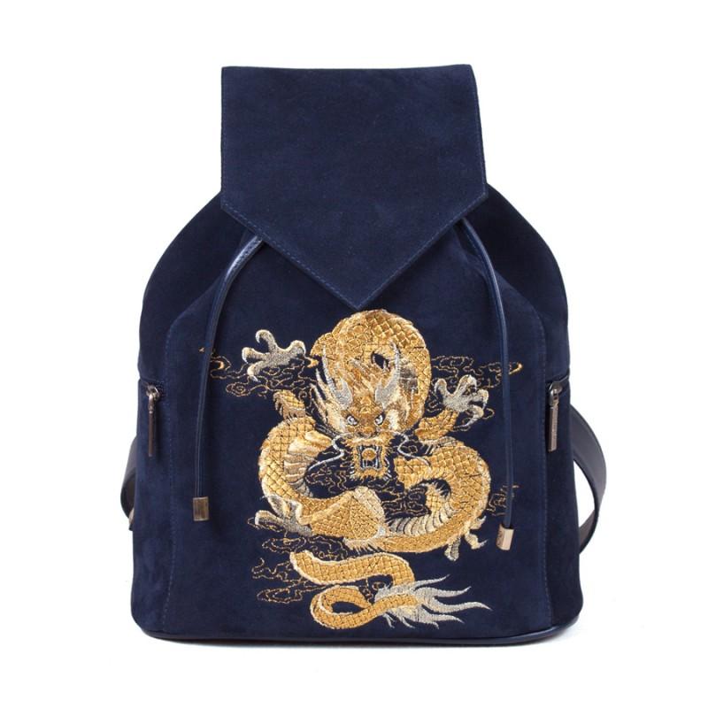 Женский рюкзак Дракон вышивка >Артикул: AF020402