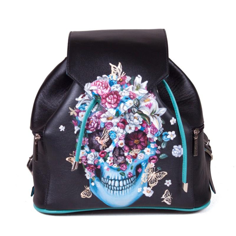Женский рюкзак Flower skull >Артикул: AF020371