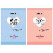 Набор белого картона Action! Love Is, A4, 8 листов, 2 дизайна в ассортименте (арт. LI-AWP-8/8)