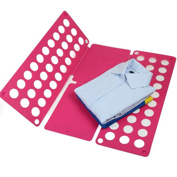 Рамка для складывания взрослой одежды CLOTHES FOLDER, цвет розовый