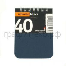 Блокнот А7 40л.кл.Альт Офис-Лайн пластик синий 3-40-157