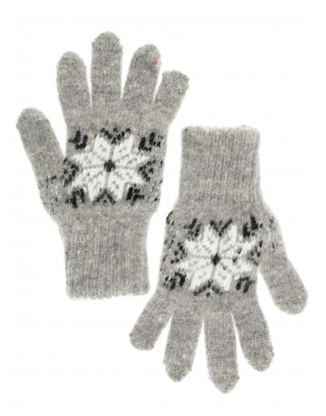 Перчатки детские серого цвета