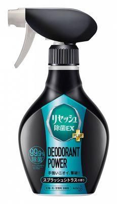 Kao Resesh EX Plus Суперэффективный дезодорант-нейтрализатор неприятных запахов для спортивной и рабочей одежды с цитрусовым ароматом 360 мл