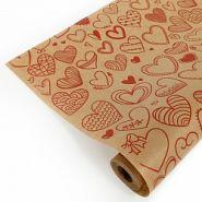 Сердечки фигурные, красный, 0,72*10 м / 40 гр/м2