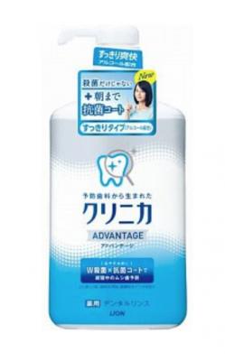 Lion Clinica Advantage Ополаскиватель для полости рта спиртовой антибактериальный длительного действия с ароматом цитруса 900 мл