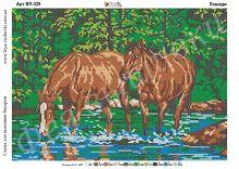 ВП-329 Фея Вышивки. Лошади. А3 (набор 1575 рублей)