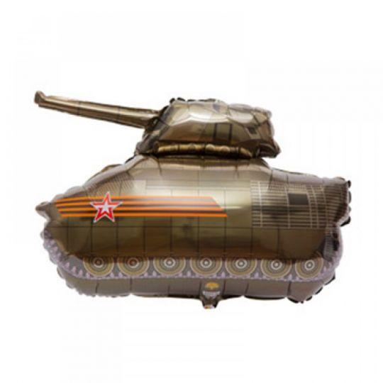 Танк с Георгиевской лентой шар фольгированный с гелием