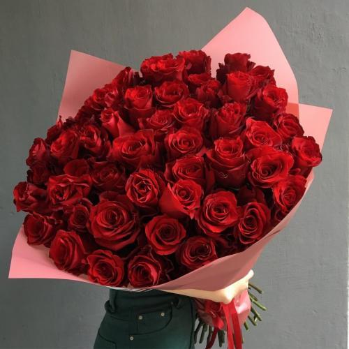 Букет из 51 красной розы Эквадор