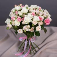 АКЦИЯ Кустовые розы (микс) от 15 шт